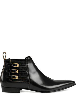 Gucci pointed ankle boots - Black