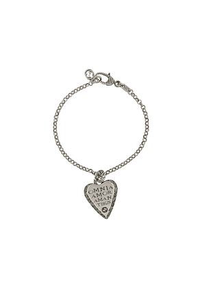 Gucci engraved heart bracelet - SILVER