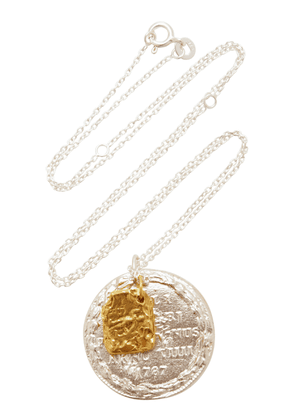 Alighieri Silver And 24K Gold-Plated Necklace