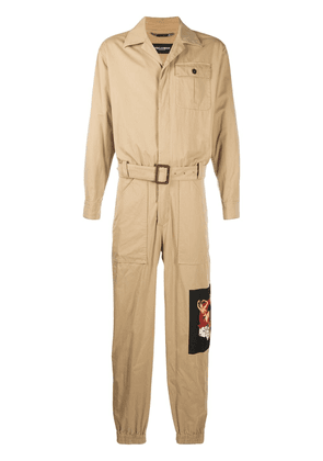 Dolce & Gabbana patch detailed jumpsuit - NEUTRALS