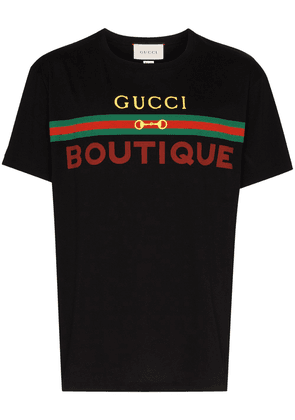 Gucci Boutique logo print T-shirt - Black