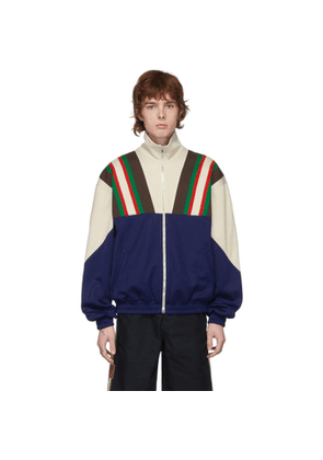 Gucci Blue and Off-White Track Jacket