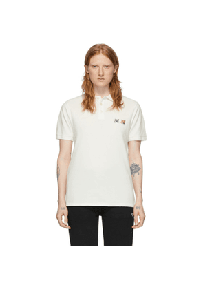 Maison Kitsune Off-White Double Fox Head Polo