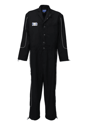 Oversize Logo Patch Wool Jumpsuit