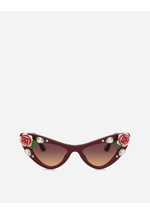 Dolce & Gabbana Sunglasses - BLOOMING SUNGLASSES BURGUNDY