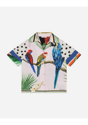 Dolce & Gabbana Collection - SHIRT IN TWILL AND CHARMEUSE WITH MIXED FOULARD PRINT MULTICOLORED