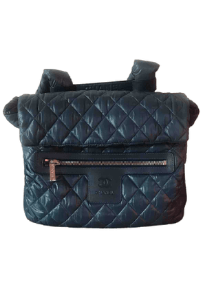 Chanel coco cocoon blue synthetic backpacks