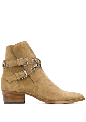 AMIRI Jodphur studded ankle boots - Brown