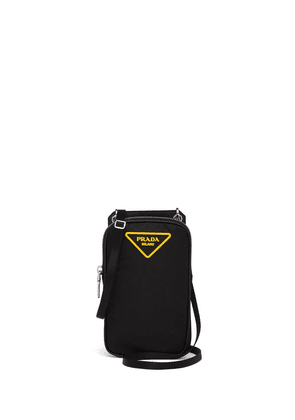 Prada padded logo-patch smartphone case - Black