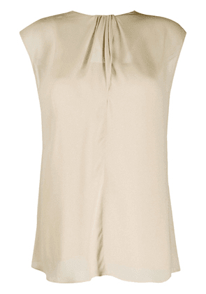 Prada scarf back blouse - NEUTRALS