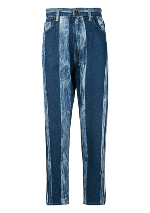 Dolce & Gabbana striped washed effect jeans - Blue