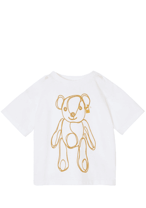 Bear Print Cotton Jersey T-shirt