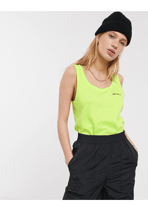 Carhartt WIP relaxed vest top with embroidered logo-Green