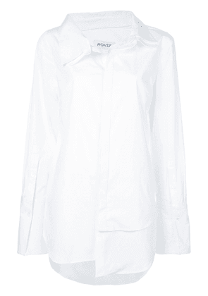 Monse plain asymmetric shirt - White