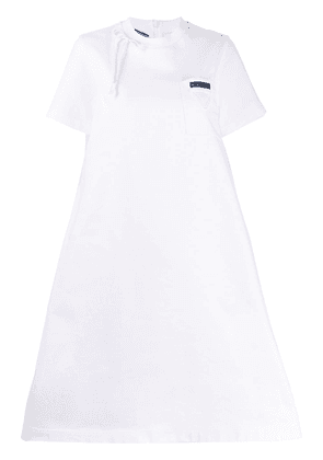 Prada logo patch T-shirt dress - White
