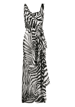 Dolce & Gabbana zebra-print asymmetric dress - Black