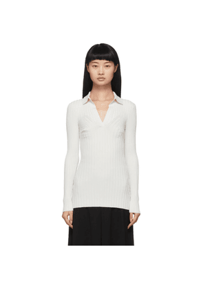 Toteme White Knit Arradon Polo