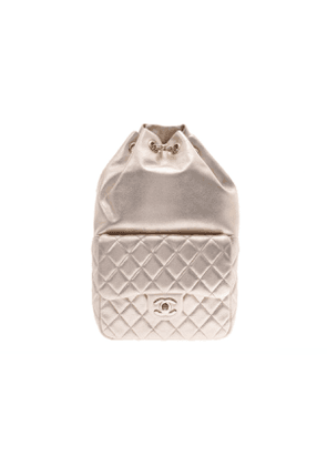 Chanel  gold leather backpacks