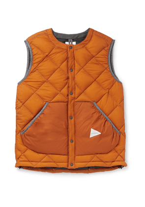And Wander - Quilted Nylon Down Gilet - Orange