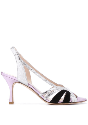 Gia Couture metallic strappy sandals - SILVER