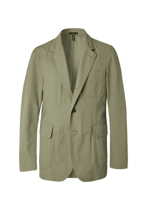 Drake's - Unstructured Cotton Suit Jacket - Green