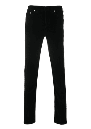 Neil Barrett velvet finish skinny trousers - Black