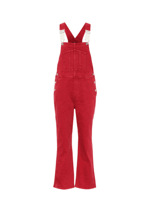 Rose denim overalls