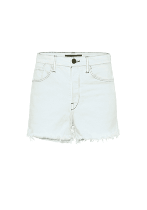 Carter high-rise denim shorts