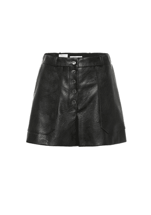Faux leather high-rise shorts