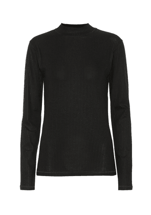 Stretch ribbed-knit top