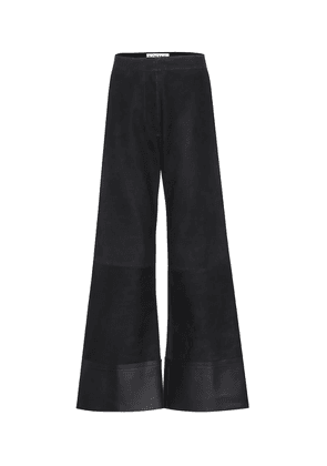 Suede and leather flares
