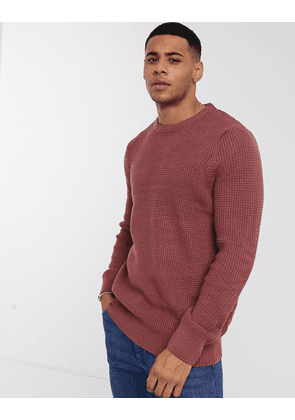 New Look knitted jumper in light burgundy-Red