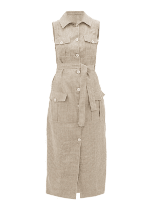Giuliva Heritage Collection - The Mary Angel Sleeveless Wool-blend Shirt Dress - Womens - Brown