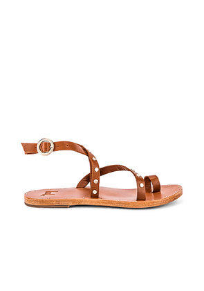 Beek Lorikeet Sandal in Brown. Size 6,8,9.