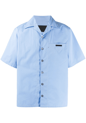 Prada notched collar bowling shirt - Blue