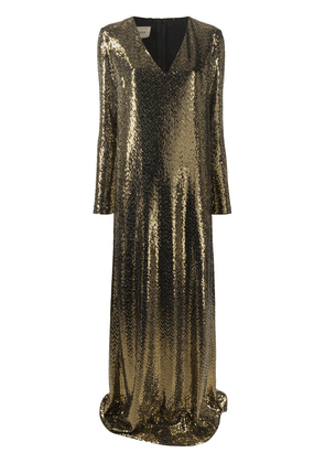 Gucci chainmail long dress - GOLD