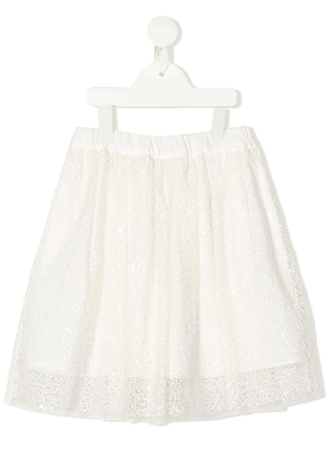 Brunello Cucinelli Kids sequin full skirt - NEUTRALS