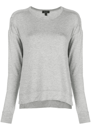 ALALA side slit sweatshirt - Grey
