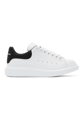 Alexander McQueen White and Black Glittered Oversized Sneakers