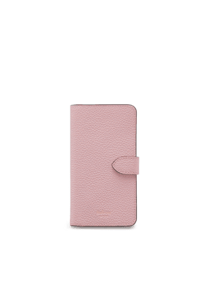 Mulberry iPhone Flip Case in Powder Pink Small Classic Grain
