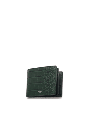 Mulberry 8 Card Coin Wallet in Mulberry Green Matte Croc