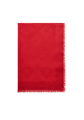 Mulberry Tree Square in Scarlet Silk Cotton