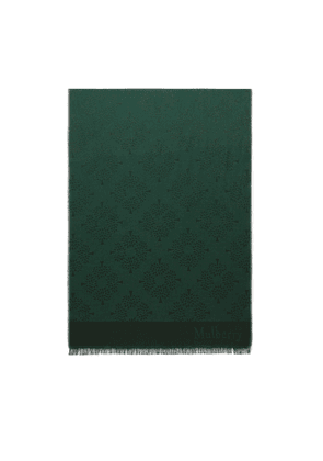 Mulberry Tree Rectangular Scarf in Mulberry Green Silk Cotton
