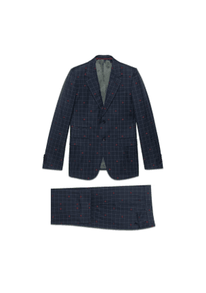 New Marseille bees wool check suit