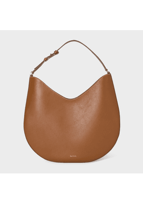 Women's 'Half Moon' Tan Leather Hobo Bag