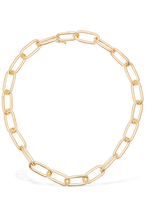 Large Rectangular Chain Collar Necklace