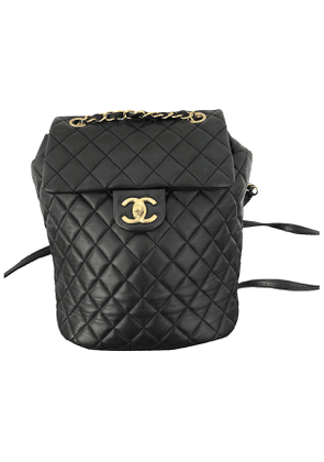 Chanel timeless/classique black leather backpacks
