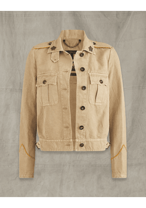 Belstaff BATTLE JACKET Beige UK 6 /