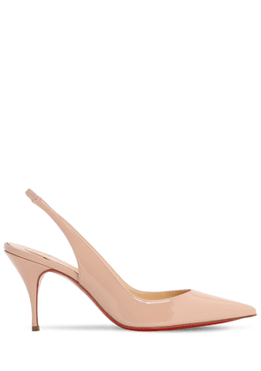 80mm Clare Leather Slingback Pumps