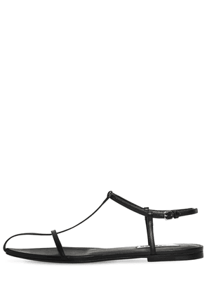 10mm Leather T-bar Sandals